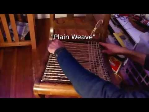Easy cane chair seat replacement weaving tutorial