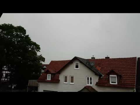 Unwetter mit starken Blitzen über Schauenburg/Hoof am 22.06.2017