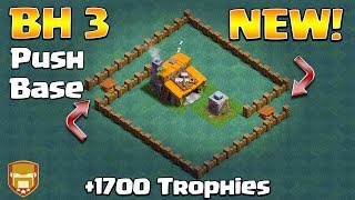Best Builder Hall 3 Base w/Crusher | NEW CoC Strategy How To Get To +1800 As BH3 | Clash of Clans