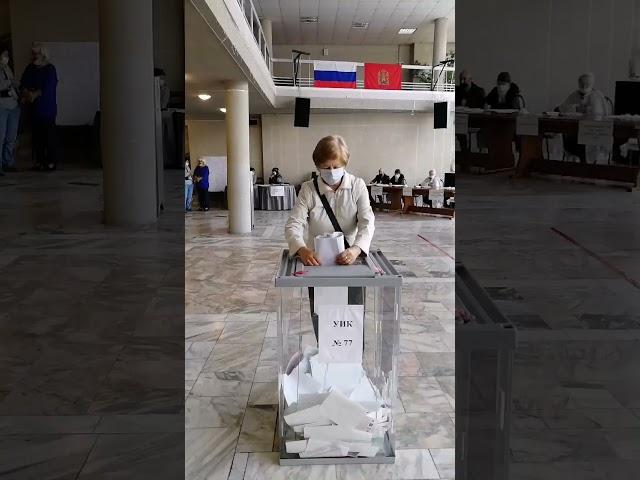 СЕГОДНЯ СТАРТОВАЛО ГОЛОСОВАНИЕ/ Выездная редакция на избирательном участке №77 в ДК Энергетик,