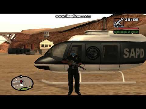GTA SA: Police Helicopter (No Cheats)