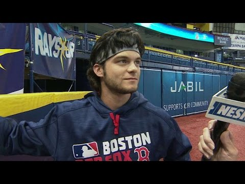 BOS@TB: Benintendi breaks down his spectacular catch