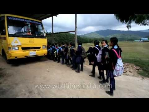 After the tedious day at school: Ziro School gets over
