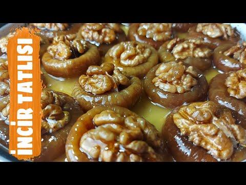 İNCİR TATLISI TARİFİ 👍 CEVİZLİ KURU İNCİR NASIL YAPILIR✅ Fig Dessert Recipe✅ Ama
