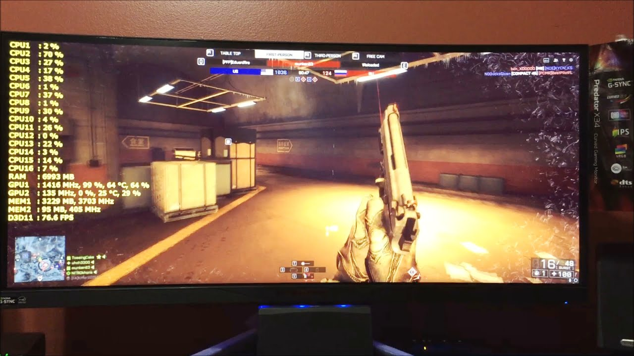 Acer Predator X34 Gaming Monitor Nvidia G Sync Unboxing