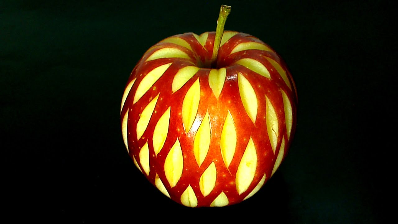 How To Make Fruit Carving Art Design Vegetable Carving Apple