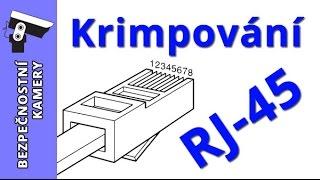 Montáž krimpování konektoru RJ45 na kabel UTP powercam cz