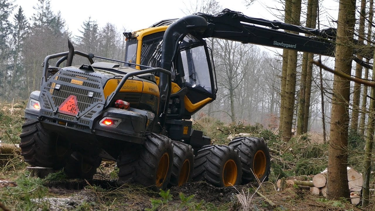Ponsse Scorpion King Working Hard In The Forrest | Heavy Forestry Equipment  | Cutting Down Woods  Iownaferguson 03:32 HD