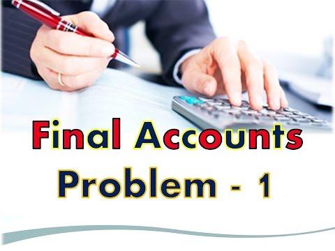 final accounts in Telugu -problem 1