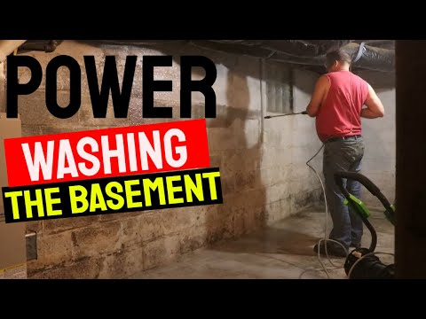 Power Washing the Basement