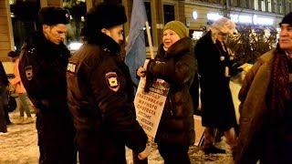 Смотреть видео Санкт-Петербург в поддержку крымских татар