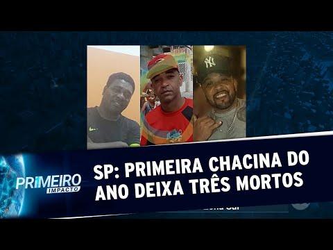Chacina deixa três mortos em bar na zona sul de São Paulo   Primeiro Impacto (27/01/20)