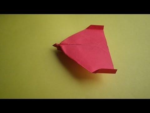 оригами самолет(рекорд книги гинеса по дальности полета 2009г)//origami goot flying plane
