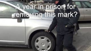 A year in prison for removing chalk?