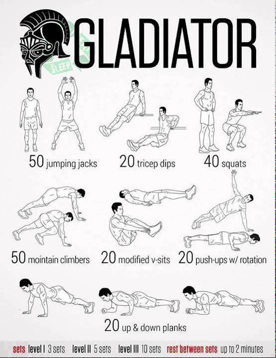 Watch Calisthenic beginners!! Gladiator workout to train ...