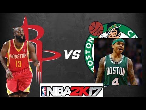 NBA 2K17 Gameplay -  houston Rockets Vs Boston Celtics James Harden   vs.Al Horford (PC)
