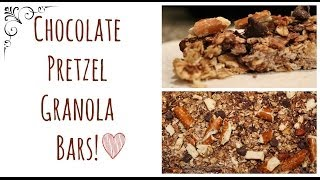 Homemade Chocolate Pretzel Granola Bars!
