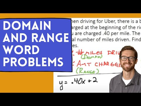 Domain and Range Word Problems - YouTube