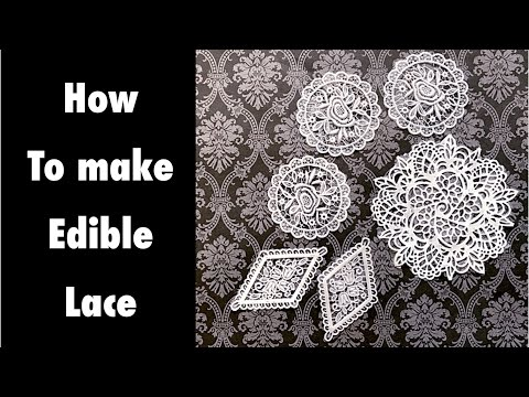 How to make edible lace with 3 ingredients.🌸