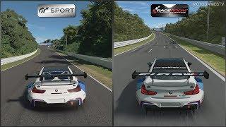 Gran Turismo Sport vs RaceRoom - BMW M6 GT3 at Suzuka