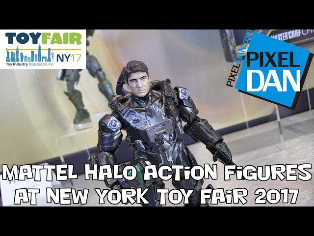 Halo Mattel Action Figures Product Display at New York Toy Fair 2017
