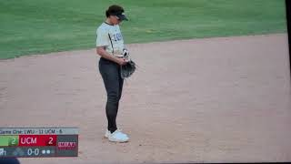 Girl shortstop dives makes her best play ever. Austine Pauley