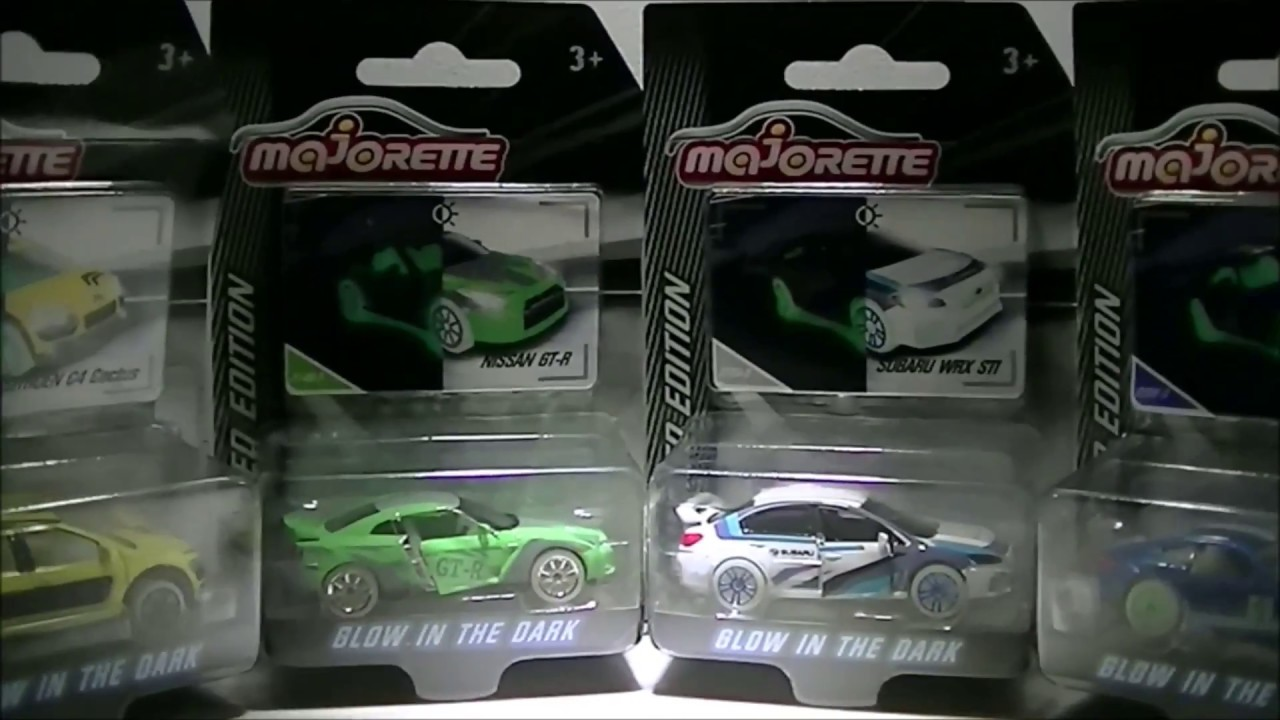 Mercedes AMG GT Majorette 1:64 Limited Edition Serie 4 Glow in the Dark