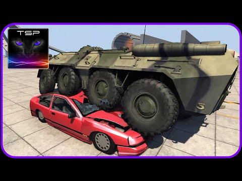 BeamNG drive - BTR 80 APC Crushing & Destroying Stuff
