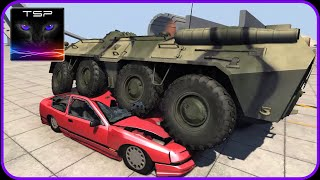 BeamNG drive - BTR 80 APC Crushing & Destroying Stuff