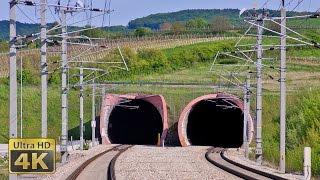 Austria Fast trains 160 km/h - 200 km/h - 230 km/h - Westbahn - Wienerwaldtunnel Westportal [4K]