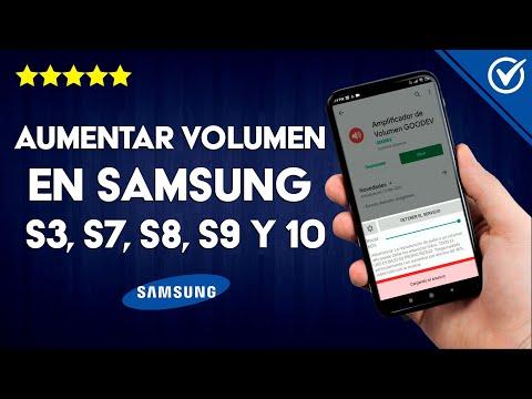 Cómo Aumentar el Volumen en el Samsung Galaxy S3, S7, S8, S9 y S10
