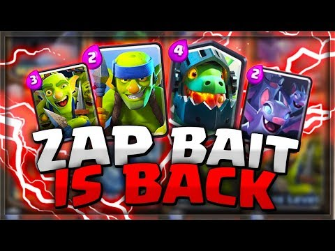 TOP LADDER PUSHING With Zap Bait 2.0! This Deck Is AMAZING!