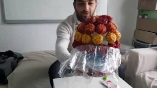 Çiçek Sepeti Bonny Food - Superman Gücü Kek ve Kurabiye Buketi unboxing with Onur - gr823