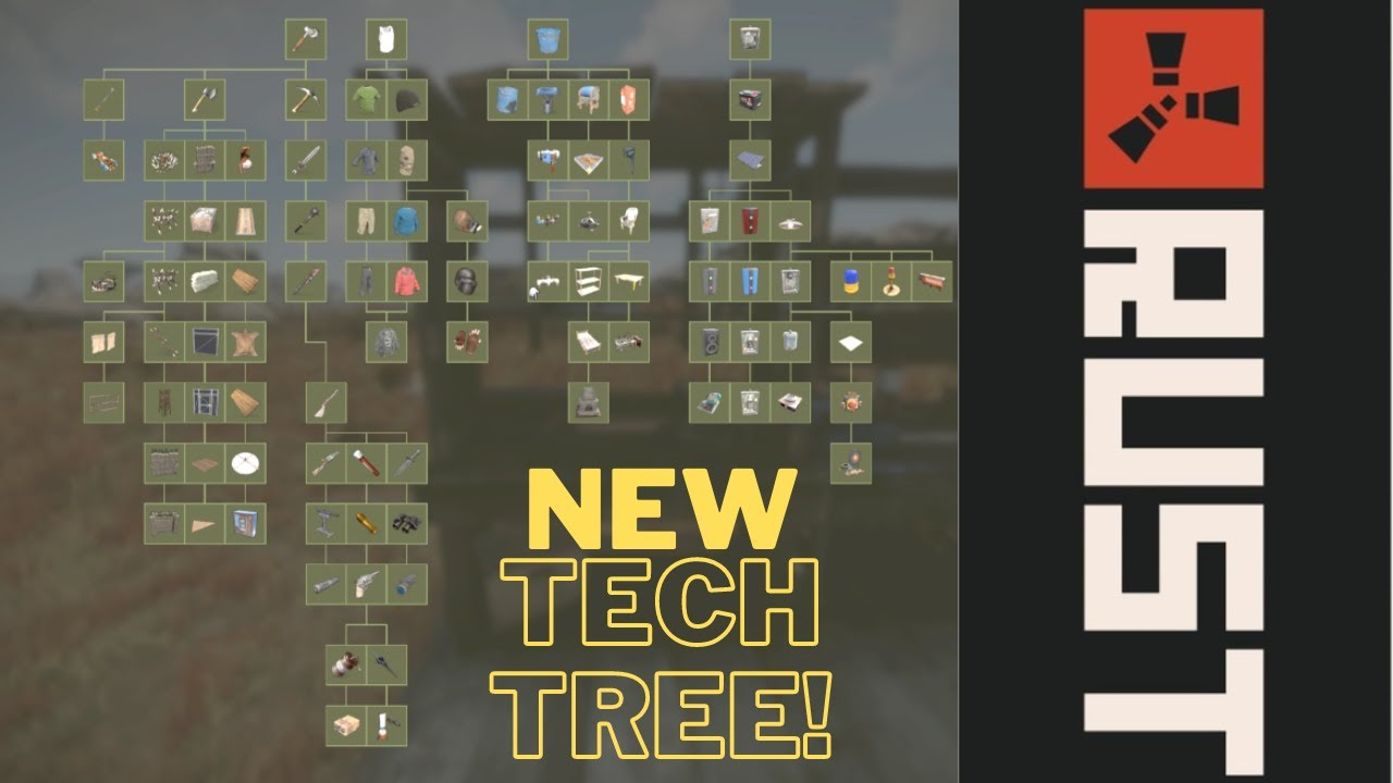 Rust New Tech Tree Update Tech Trees For All Workbenches Youtube