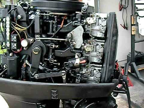 Force 50 Wiring Diagram 1992 Evinrude 70hp Running Youtube