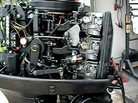 75 Hp Johnson Ignition Wiring 1992 Evinrude 70hp Running Youtube