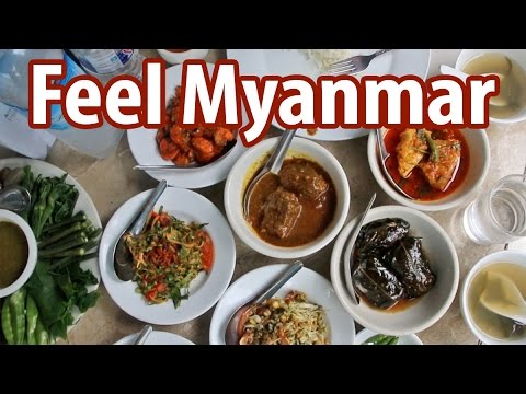 Myanmar Food at Feel Restaurant - One of the BEST Restaurants in Yangon, Myanmar for Burmese Food!