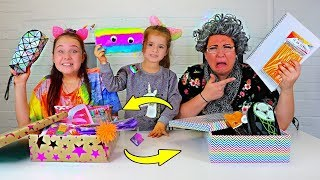 BACK TO SCHOOL SWITCH UP CHALLENGE w/ Granny & Ruby and Bonnie