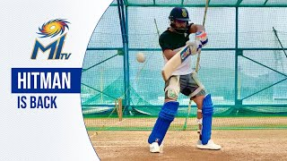 Rohit Sharma is back in the nets! | Mumbai Indians...