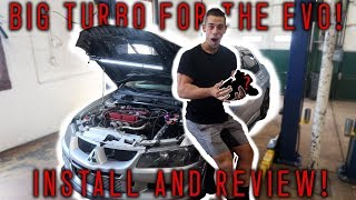 EVO 8 BIG TURBO INSTALL AND TUNE! THE SEARCH FOR 500WHP