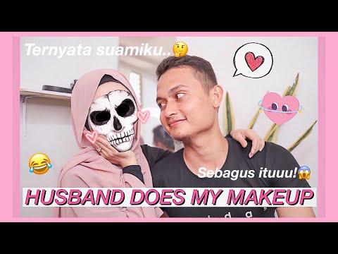 DI MAKEUPIN SUAMI! Ngakak (Husband Does My Makeup Challenge)
