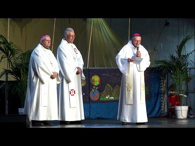 Croq la vie, Mgr Michel, accueil et lecture de la lettre du Pape