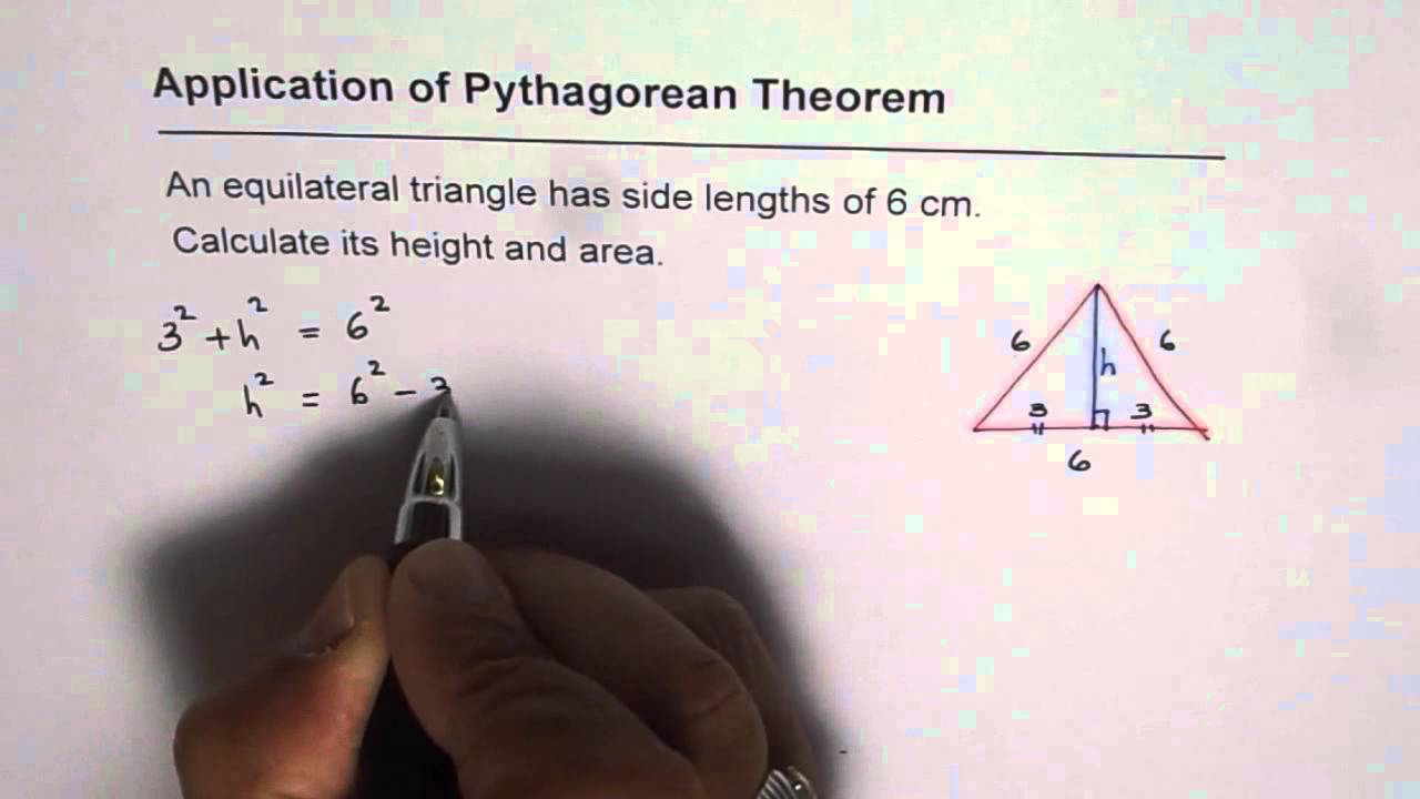 How To Find Height And Area Of Equilateral Triangle Youtube