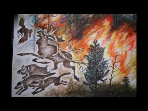 Картинки лесных пожаров изображенных на рисунке