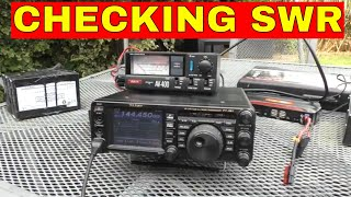 Basics of using a SWR meter and MFJ Antenna