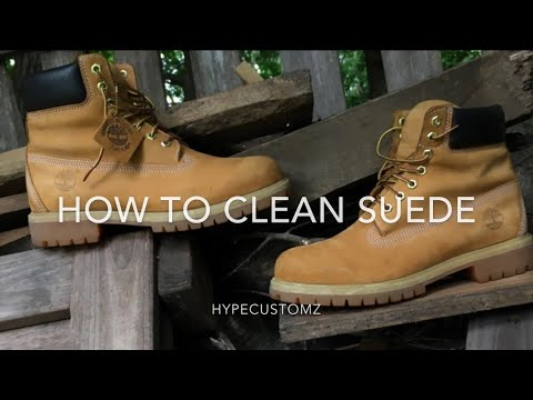 How To Clean Suede ( Ft Timberlands )