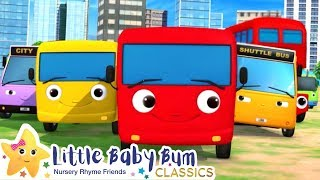 Busy Buses Song | Nursery Rhyme & Kids Song - ABCs and 123s | Little Baby Bum