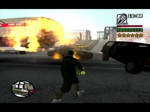 how to get 6 stars in gta san andreas cheat