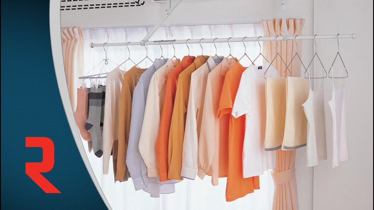 Clothes Drying System Wall Mount Youtube