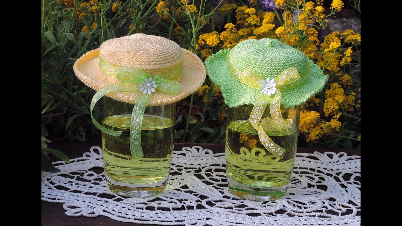 Hüte für Getränkegläser. Hats. HÄKELN CROCHET - YouTube